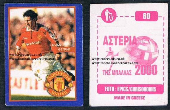 1999 Greek Ryan Giggs Man Utd sticker